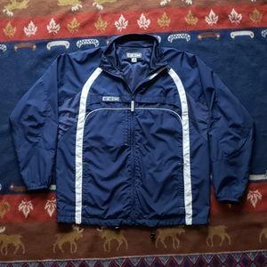 CCM Jackets & Coats - CCM Blue White Full-Zip Vented Windbreaker Mens L